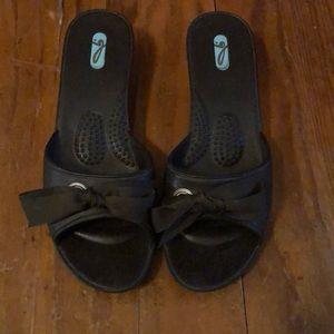 OKA b slip on sandal with heel
